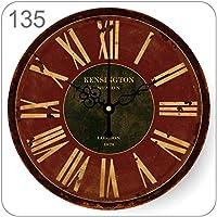 壁掛け時計壁掛け時計ヴィンテージ装飾壁掛け時計イミテーション錬鉄製ミュート壁掛け時計12インチ(直径30Cm)ローマ時計
