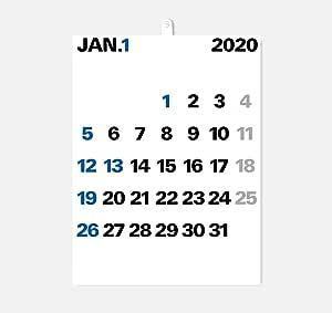 2020年度版 aru デザインカレンダー 壁掛け WHM-01