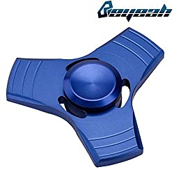 Beyeah ハンドスピナー Hand Spinner 指スピナー アルミニウム合金 子供大人に適用 指先1-5分高速スピン Blue ブルー (メーカー直営店・1年保証付)
