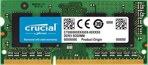 Crucial DDR3L ノート用メモリー 8GB (1600MT s PC3-12800/CL11/204pin/1.35V/1.5V SODIMM) 永久保証 CT102464BF160B