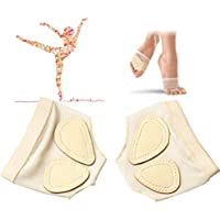 Women Lyrical Belly Ballet Dance Foot Thongs Toe Pad Practice Shoes Protection Dance Socks Foot Care Dance Paw Half Sole Foot Toe Undies