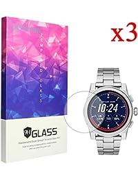 Lamshaw Michael Kors Grayson 保護フィルム, Lamshaw 9H ガラスフィルム カバー 対応 MICHAEL KORS 腕時計 GRAYSON タッチスクリーンスマートウォッチ (3 pack)