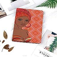 IPad 2/ iPad 3/ iPad 4 ケース - Apple iPad 2/3/4 第二世代 第三世代 第四世代タブレット用 PC + PUレザー 2つ折スタンドケース民族衣装でのアフリカの女性の肖像画Zulu Elegance Tribalグラフィックプリント