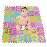 アルファベットと子供たちの泡子供数プレイソフトのパズルマットプレイマット