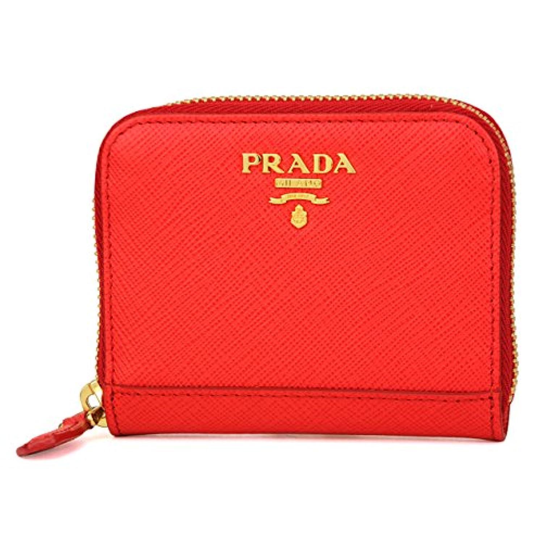 プラダ(PRADA) コインケース 1MM268 UZF F0D17 サフィアーノ メタル レッド 赤 [並行輸入品]