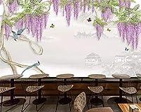 KAHSFA カスタムファッション現代の人格の壁紙ファンタジー藤青の背景3dの壁紙の家の装飾