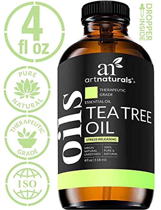 六月ペレットリーガンArtNaturals Tea Tree Essential Oil - 4 oz Pure and Natural Premium Melaleuca Therapeutic Grade