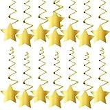 KatchOn ゴールドスターハンギングスワール - DIY不要 | 卒業デコレーション パーティー用品 | きらきら星の装飾 | ゴールドパーティー用品 | ベビーシャワーデコレーション