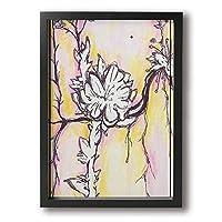 花 アートポスター アートパイル アート壁掛け 壁アート ポスター インテリア装飾品 絵画 インテリア 風景画 現代壁の絵 引き越し Black