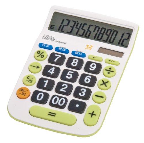 ナカバヤシ 電卓 デスクトップ大型キータイプ/Mサイズ ECD-8502G