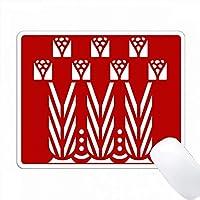 アールデコ様式のポピーを白い赤色にする PC Mouse Pad パソコン マウスパッド