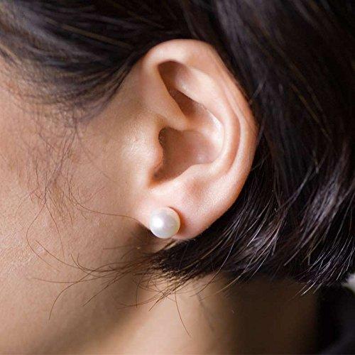 Mani・Mani アコヤ真珠ピアスのようなイヤリング 【8mm】 本物素材 (うれしいお手入れクロス付き 携帯に便利な巾着袋付き 保証書) N-876