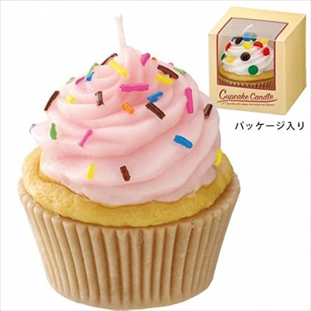 厳密に対抗振る舞うカメヤマキャンドル(kameyama candle) アメリカンカップケーキキャンドル 「 ストロベリークリーム 」