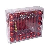 110 pcs ornament set -red【クリスマス】【ツリー】 [並行輸入品]