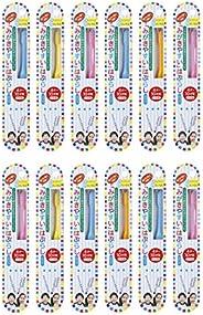 歯ブラシ職人Artooth 日本製 田辺重吉 磨きやすい歯ブラシこども用 LT-10 (12本パック)