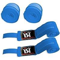 ボクシング総合格闘技ハンドラップ手首拳包帯MMA Punching手袋内側ブルーペア
