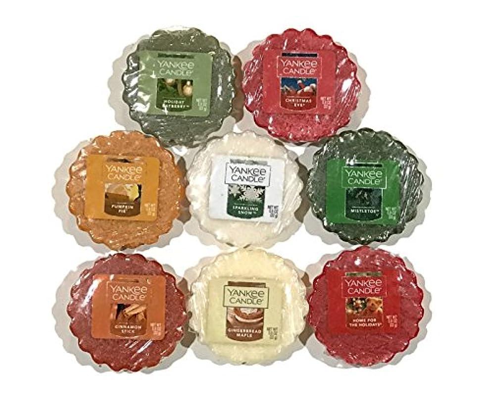 離れた顔料トライアスロンYankee Candle TartsワックスMeltsサンプラーパック、冬/Holiday Scents (8パック)