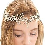 【irismile】ヘッドドレス ウェディング カチューシャ ブライダル ティアラ ヘアバンド ヘアアクセサリー 髪飾り 結婚式