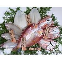 特撰日本海一夜干「吉祥天」 甘鯛、笹かれい、のどぐろ、白いかの詰合せ 一日漁 岡富商店