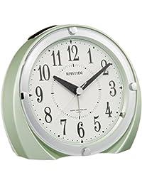 リズム時計 目覚まし時計 電波 アナログ フィットウェーブ A436 ピッタリに鳴るジャストアラーム (新機能 :アラーム誤差0秒) 緑 RHYTHM 4RL436SR05
