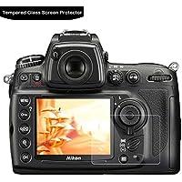 LOKEKE スクリーンプロテクタ-Nikon D7000 D90に使用される液晶保護フィルム、実際のガラス製造、生涯保証 0.3mm 9H