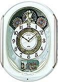 セイコー クロック 掛け時計 電波 アナログ からくり 6曲 メロディ 回転飾り 白 パール RE565H SEIKO