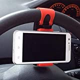 BEESCLOVER Universal Car Steering Wheel Clip Mount Holder for Phone 7 7Plus 6 6s Samsung Xiaomi Huawei Mobile Phone as Picture Show One Size