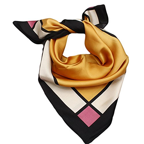 (Burosuteruno)Blostirno女裝奢華緞面圍巾絲巾款式多頭巾尺寸更小