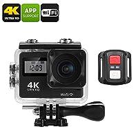 4K Sports Action Camera (170-Degree Lens, WiFi, 2 Inch Display, IP68 Waterproof Case, 16MP CMOS Sensor, App Support)