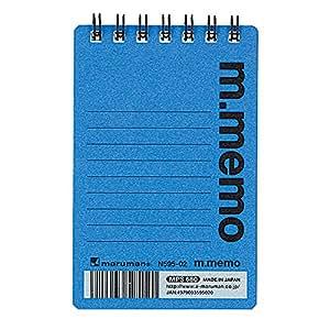 マルマン A7 メモ エムメモ ブルー マイクロミシン目入り N595-02