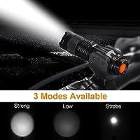 LED 自転車ライト ヘッドライト 高輝度 フロントランプ 防水仕様 3モード 自転車前照灯 夜走行 事故防止 多機能 懐中電灯