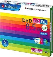 Verbatim バーベイタム 1回記録用 DVD+R DL 8.5GB 5枚 ホワイトプリンタブル 片面2層 2.4-8倍速 DTR85HP5V1