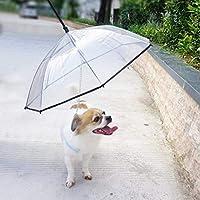 PETLESO ペット 傘 犬用傘 散歩用 レイングッズ 猫用 小型犬 中型犬