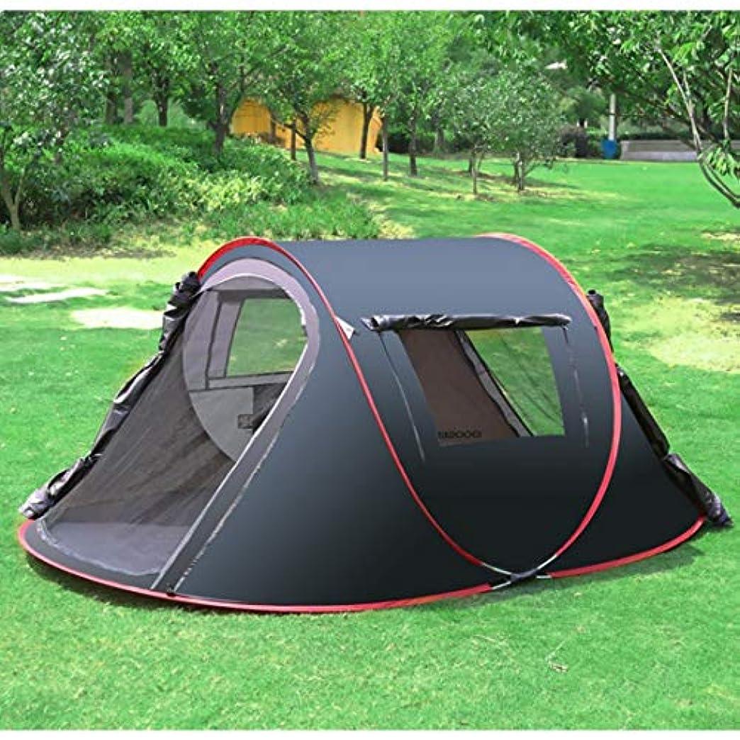 不足効能縮れたNekovan 二重層の防水ガラス繊維のポーランド人が付いている屋外のキャンプのためのキャンプテント。 (色 : 03, サイズ : 3-4P)
