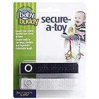 Baby Buddy ベビー バディ Secure-A-Toy 2ct おもちゃストラップ2色各1本組 【アメリカ製】 Black&White ブラック&ホワイト