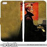 music 手帳型 isai LGL22(G009501_03) Art Record Jacket Face 趣味 David Bowie 個性的 スマホケース