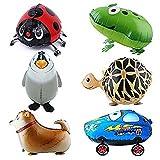 Amazon.co.jpバルーン,SODIAL(R) 6xウォーキング動物バルーン 誕生日パーティーの装飾 子供のギフト カメ、カエル、ニュージーランド・ハンタウェイ、ビートルズ、ペンギン、カーを含めて