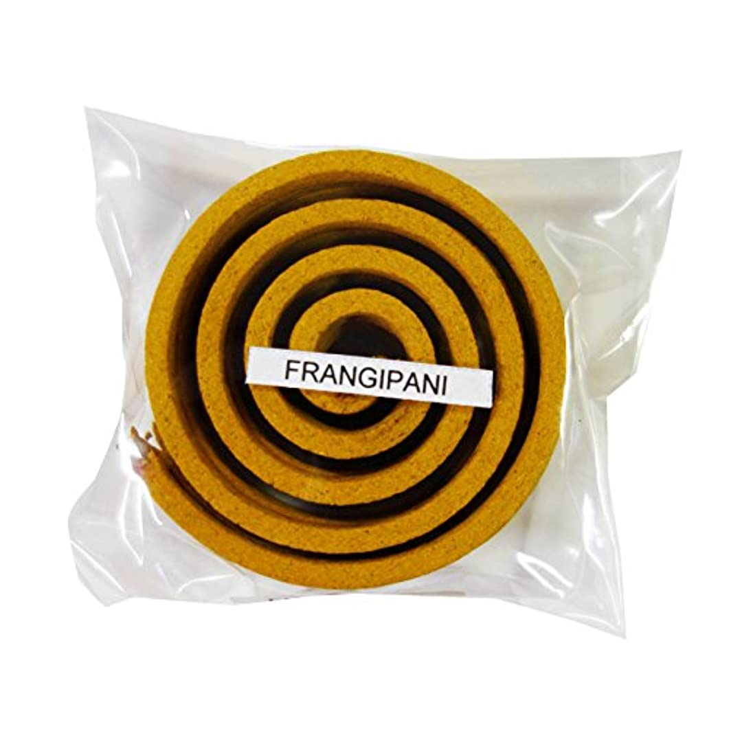 単調な親メアリアンジョーンズお香/うずまき香 FRANGIPANI フランジパニ 直径6.5cm×5巻セット [並行輸入品]