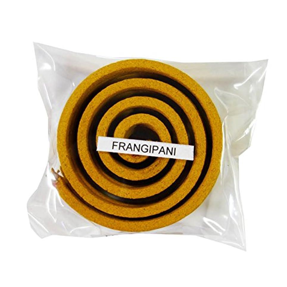 ストッキングかわすガスお香/うずまき香 FRANGIPANI フランジパニ 直径6.5cm×5巻セット [並行輸入品]