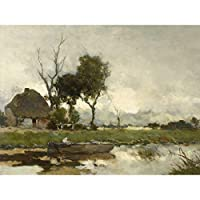 Weissenbruch Autumn Landscape Cottage Painting Large XL Wall Art Canvas Print 秋風景ペインティング壁