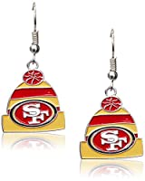 (San Francisco 49ers) - NFL Licenced Beanie Knit Hat Dangle Earrings