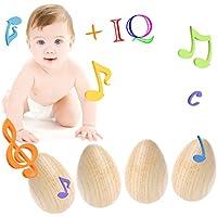 timberlark 4pc木製打楽器、ミュージカルエッグマラカスシェイカーToy for Baby / Kids /バンド