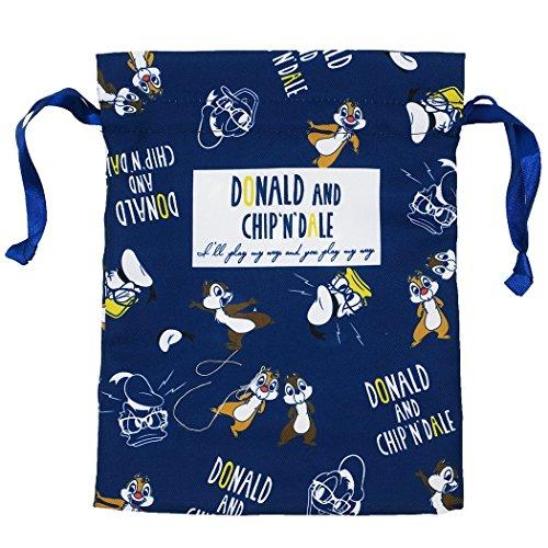 ドナルド&チップ&デール[巾着袋]マチ付ききんちゃくポーチ /シークレットミックス ディズニー