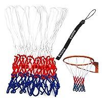 Estone ®標準丈夫なナイロンバスケットボールゴールフープNetネッティングレッド/ホワイト/ブルースポーツ