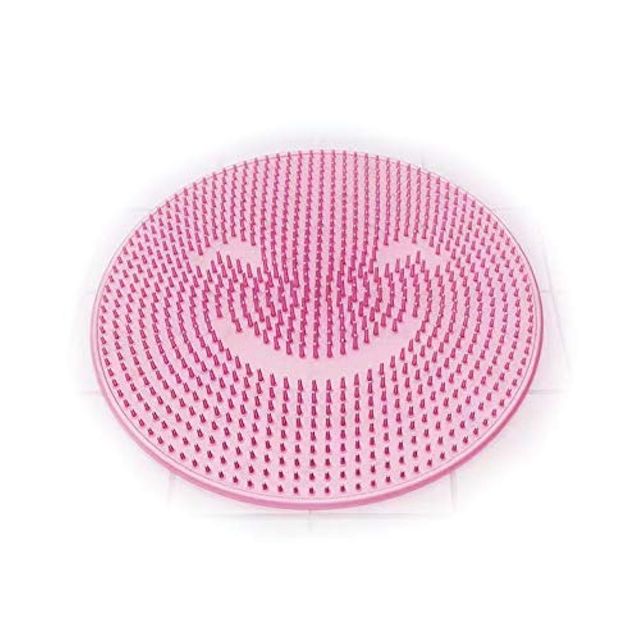 不条理エンジニアリング歪めるSHOOTING 足洗い用 バスマット 足洗いマット フット 汚れ角質除去 ストレス解消 (ピンク)