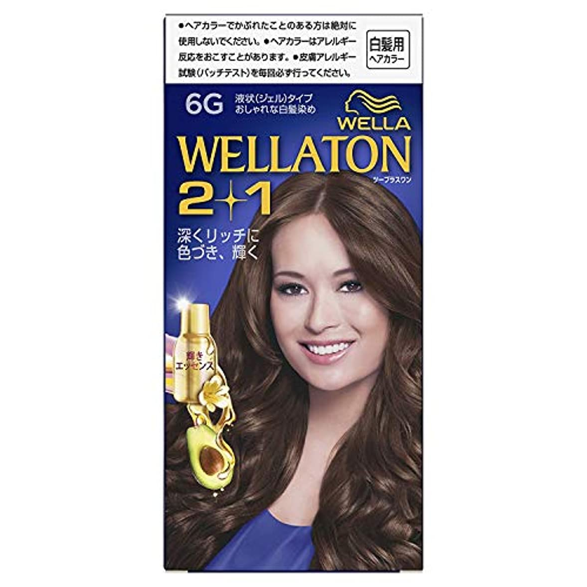 自宅で優先ピジンウエラトーン2+1 白髪染め 液状タイプ 6G [医薬部外品] ×6個