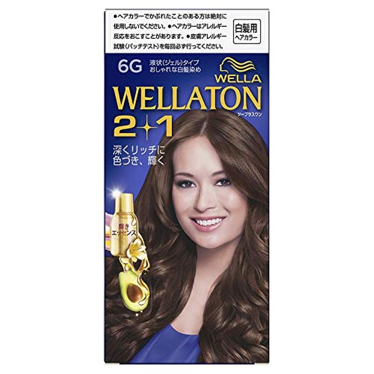スロープ検体未接続ウエラトーン2+1 白髪染め 液状タイプ 6G [医薬部外品] ×6個