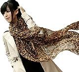 ストール ショール マフラー スカーフ ロングタイプ シフォン素材 紫外線対策 軽くて肌触り良 豹柄 2