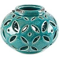 """Blossomバケット151–71661Round Lantern withハンドル、6"""" L x H 4.75インチ、ブルー"""
