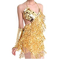 Fairycece Sexy Latin Dance Dress with Sparkling Sequins